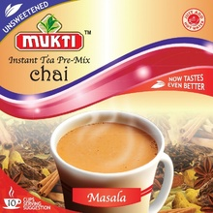 MUKTI Instant Tea Masala Unsweetened (Ceai Masala Instant Neindulcit - 10 pliculete) 140g