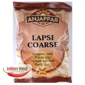 Anjappar Cracked Wheat Lapsi Coarse (Grau Zdrobit Indian) 500g