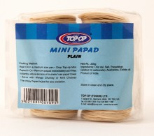 Top op Papad Mini Plain (Mini Papadums de Linte Neagra) 200g