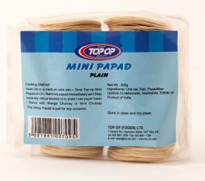 Top op Papad Mini Plain (Mini Papadums de Linte Neagra) 200g
