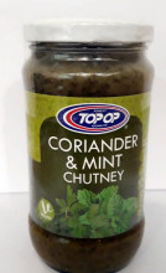 TOPOP Coriander & Mint Chutney (Pasta de Coriandru & Menta) 330g