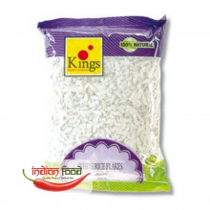 Kings Pawa - Poha White Rice Flakes (Orez Alb Aplatizat) 1kg