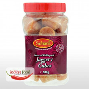 Schani Jaggery Cubes Natural Kolhapur (Zahar Brut forma Cubica) 500g