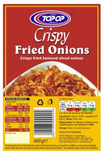 TOPOP Crispy Fried Onions (Ceapa Crocanta) 400g