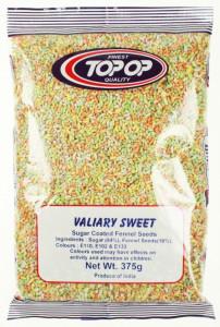 TOPOP Valiary Sweet - Sugar Coated Fennel Seeds (Fenicul suflat cu Zahar) 375g