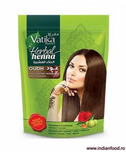 VATIKA Natural Herbal Henna Powder Oudh ( Henna Naturala Pudra cu Aroma de Oud) 200g