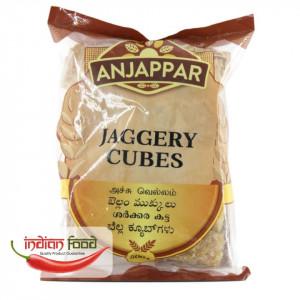 Anjappar Jaggery Cubes (Zahar Brut forma Cubica) 500g