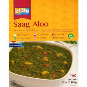 ASHOKA Heat & Eat Saag Aloo (Mancarica de Cartofi cu Spanac) 280g