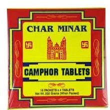 CAMPHOR Tablets Charminar ( Camfor Pastile Pur) 200g