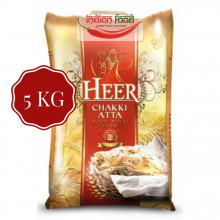 Heer Chakki Atta - Whole Wheat Flour (Faina de Grau Integrala) 5kg