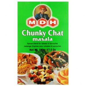 MDH Chunky Chat Masala (Condiment pentru Aperitive & Salate) 500g