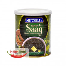 Mitchell's Canned Sarson ka Saag (Frunze de Mustar in Curry Conservate) 800g