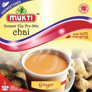 MUKTI Instant Tea Ginger Unsweetened (Ceai Gimbir Instant Neindulcit - 10 pliculete) 140g