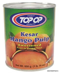 TOPOP Mango Pulp Kesar (Nectar de Mango) 850g
