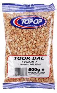 TOPOP Toor Dall Plain (Linte Galbena Fara Coaja Toor) 500g