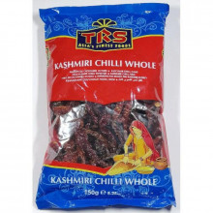 TRS Chillies Whole Kashmiri (Ardei Intreg Uscat Rosu, Zona Kashmir) 150g