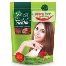 VATIKA Natural Herbal Henna Powder Sandalwood and Rose ( Henna Naturala Pudra cu Aroma de Santal si Trandafir) 200g