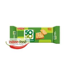BRITANNIA 50 -50 Crackers Salt & Sweet (Biscuiti Crocanti Crackers cu Sare si Zahar) 62g