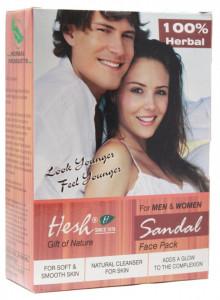 HESH Sandal Masca de Fata (Santal+Petale de Trandafir+Curcuma+Amla) Mix Pudra) 100g