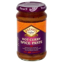 PATAK'S Curry Spice Paste Hot (Pasta pentru Curry Picant) 283g