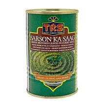TRS Canned Sarson ka Saag (Frunze de Mustar in Curry Conservate) 450g