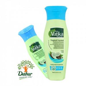 VATIKA T Coconut Volumising Shampoo (Sampon de Nuca de Cocos Ricin+Henna) 200ml