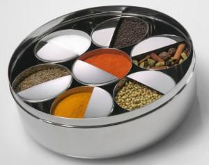 Con s/s Spice Box (Masala Dabba Farfuria Condimentata) 20cm