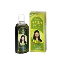 DABUR Amla Gold Hair Oil (Ulei de Amla Gold Migdale + Henna) 300ml