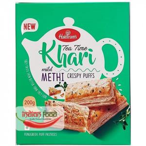 Haldiram's Khari Puff Methi (Foietaj cu Frunze de Schinduf) 200g