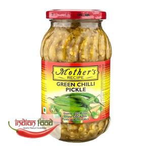 Mother's Recipe Green Chilli Pickle (Muraturi de Ardei Verde ) 500g