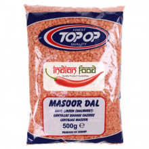 TOPOP Masoor Dall (Linte Rosie) 500g