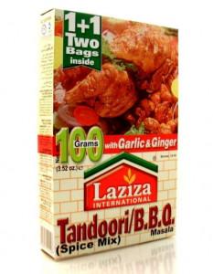 LAZIZA Tandoori BBQ Masala (Condiment pentru Carne la Gratar/Cuptor) 100g