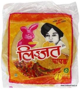Lijjat Punjabi Masala Papads (Snacks Indian Condimentat) 200g