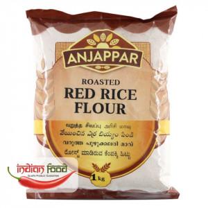 Anjappar Roasted Red Rice Flour (Faina de Orez Rosie Prajita) 1kg