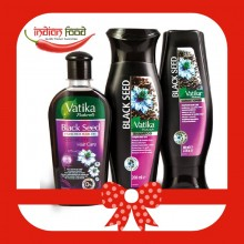 Promotional Pack VATIKA Black Seed Shampoo 200ml + VATIKA Enriched Black Seed Hair Oil 200ml + VATIKA Conditioner Black Seed 200ml