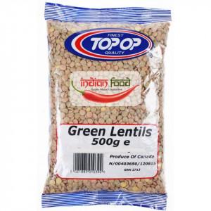 Topop Green Lentils 500