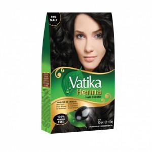 VATIKA Henna Hair Colour Nat Black (Vopsea de Par cu Henna Negru) 60g