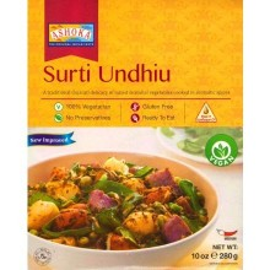 ASHOKA Heat & Eat Surti Undhiu (Mancarica de Legume Mixte Surti) 280g