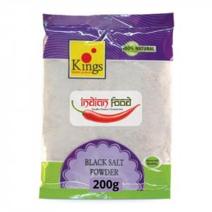 Kings Kala Namak Black Salt Powder (Sare Neagra) 200g