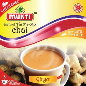 MUKTI Instant Tea Ginger Sweetened (Ceai Gimbir Instant Indulcit - 10 pliculete) 220g