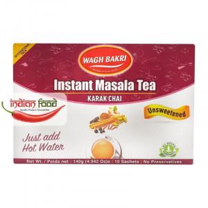 Wagh Bakri Instant Tea Masala Un Sweetened (Ceai Masala Instant - 10 pliculete) 140g