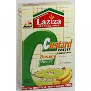 LAZIZA Custard Powder Banana (Budinca de Banana Semi-Preparata) 300g