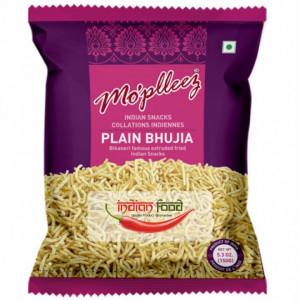 MO'PLEEZ Plain Bhujia (Snacks Indian Bhujia Condimentat ) 150g