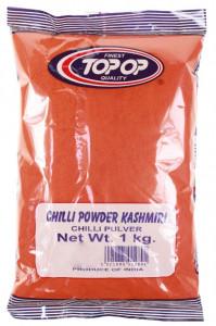 TOPOP Chilli Powder Kashmiri (Boia Rosie, zona Kashmir) 1kg
