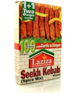 LAZIZA Seekh Kebab Masala (Condiment pentru Kebab si Gratar) 100g