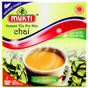Mukti Instant Tea Cardamom Unsweetened (Ceai Cardamom Instant Neindulcit - 10 pliculete) 140g