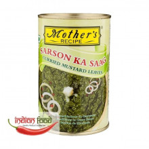 Mother's Recipe Sarson Ka Saag (Frunze de Mustar in Curry Conservate) 450g
