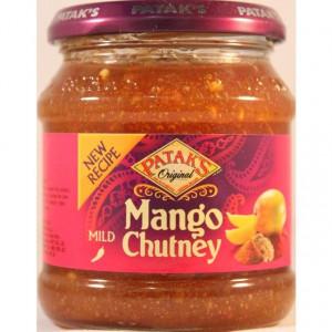 PATAK'S Mango Chutney Mild (Pasta de Mango Dulce) 340g