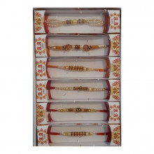 RAKHEES 6PCS/BOX (Bratara Indiana Rakhi)