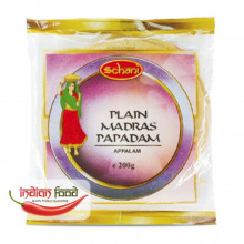 "Schani Papad Madras Plain 6"" (Snacks India din Linte zona Madras) 200g"